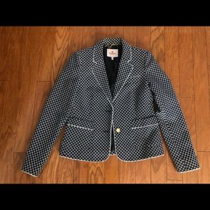 Juicy Couture Blue and White blazer